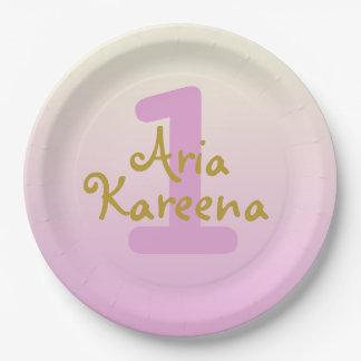 """Assiettes En Papier Aria Kareena 7"""" rose beige d'Ombre de plaques à"""
