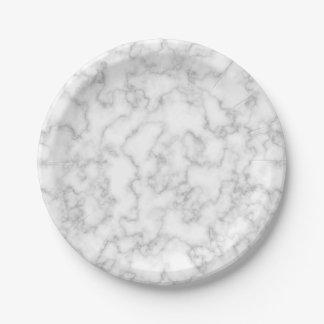 Assiettes En Papier Arrière - plan marbré de motif de pierre de marbre