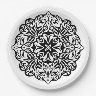 Assiettes En Papier Art ethnique de style de mandala maori polynésien
