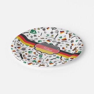 Assiettes En Papier Articles allemands avec le drapeau de l'Allemagne
