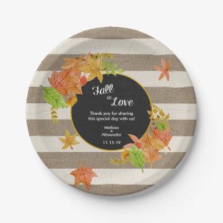 Assiettes En Papier Automne rustique en douche d'amour ou décor