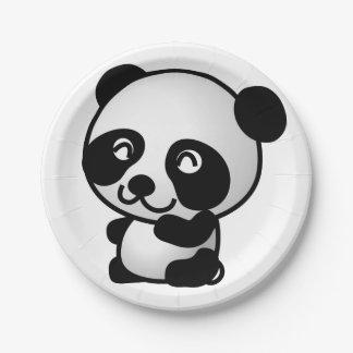 Assiettes En Papier Avion de papier. Panda