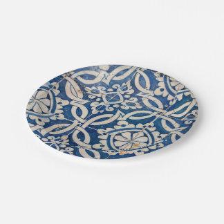 Assiettes En Papier Azulejo portugais vintage