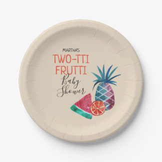 Assiettes En Papier Baby shower de Two-tti Frutti