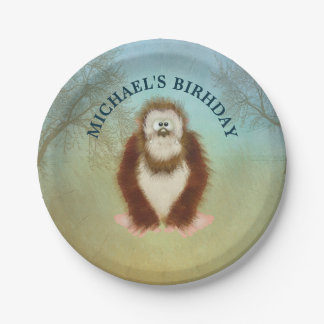Assiettes En Papier Bigfoot/célébration d'anniversaire personnalisée