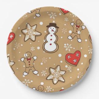 Assiettes En Papier Biscuits de Noël