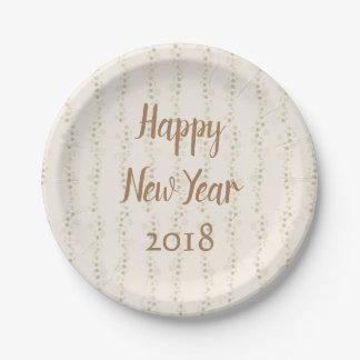 Assiettes En Papier Bonne année de temps de partie