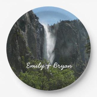 Assiettes En Papier Bridalveil tombe au parc national de Yosemite