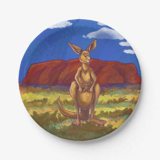 Assiettes En Papier Centre de partie de kangourou