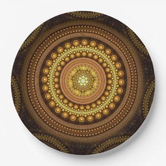 Assiettes En Papier Cercles de fractale