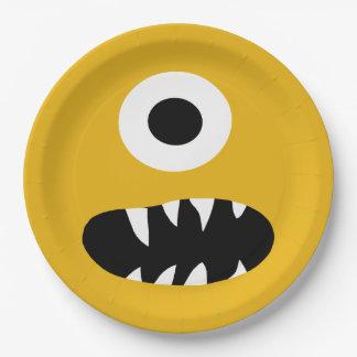 Assiettes En Papier Choisissez la partie idiote de jaune de visage de
