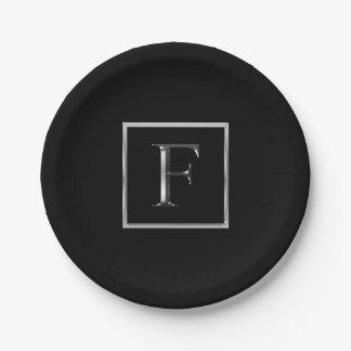 Assiettes En Papier Choisissez votre propre plat argenté brillant de