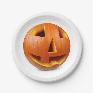 Assiettes En Papier Citrouille heureux de Halloween