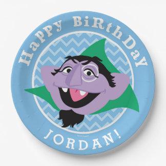 Assiettes En Papier Compte von Count Birthday du Sesame Street |
