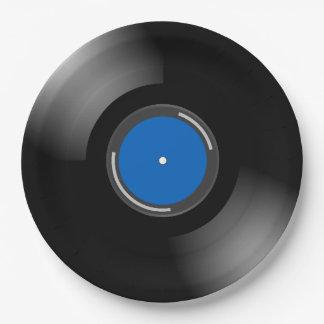 Assiettes En Papier Conception de disque vinyle