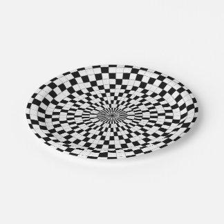 Assiettes En Papier Contre- spirales