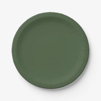 Assiettes En Papier Couleur solide de Forest Green
