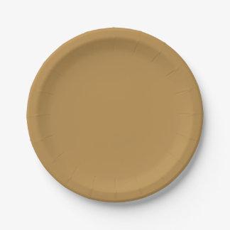 Assiettes En Papier Couleur solide de miel de Brown