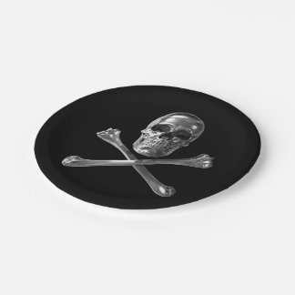 Assiettes En Papier Crâne de jolly roger plaque à papier de 7 pouces