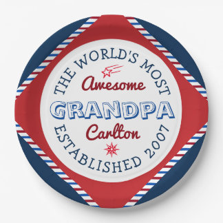 Assiettes En Papier Créez le logo du grand-papa le plus impressionnant