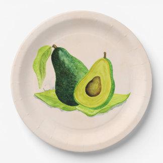 Assiettes En Papier D'avocat toujours fruit vert de la vie dans les