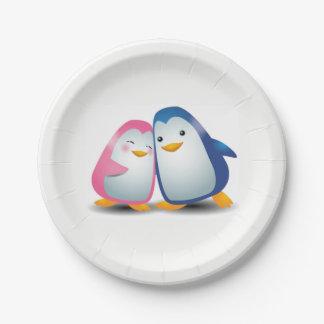 Assiettes En Papier Deux pingouins