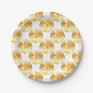 Assiettes En Papier Disque d'or