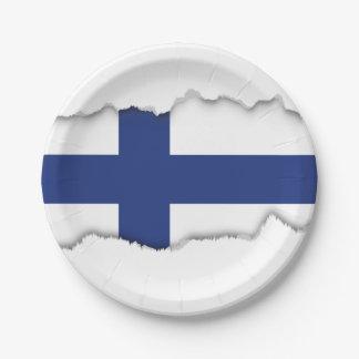 Assiettes En Papier Drapeau de la Finlande
