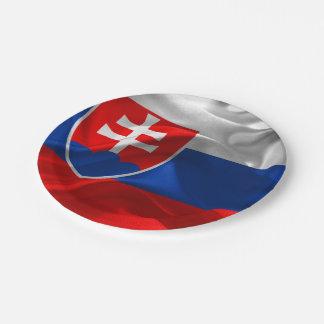 Assiettes En Papier Drapeau de la Slovaquie