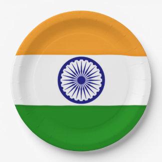 Assiettes En Papier Drapeau de l'Inde