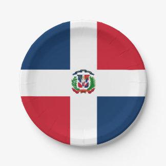 Assiettes En Papier Drapeau : La République Dominicaine