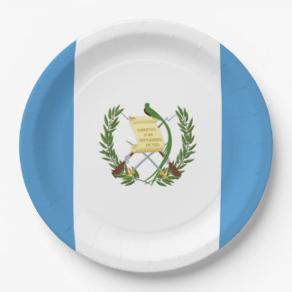 Assiettes En Papier Drapeau : Le Guatemala