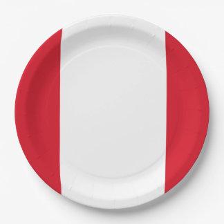 Assiettes En Papier Drapeau : Le Pérou