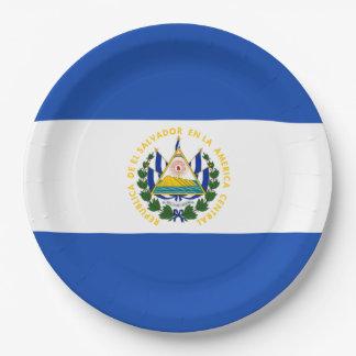 Assiettes En Papier Drapeau : Le Salvador