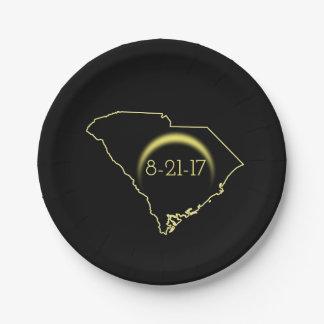 Assiettes En Papier Éclipse solaire totale la Caroline du Sud 2017