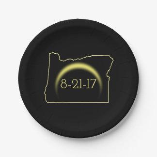 Assiettes En Papier Éclipse solaire totale Orégon 2017