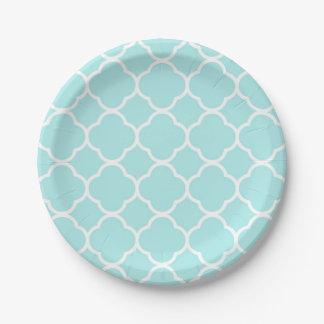 Assiettes En Papier Élégant géométrique moderne de quatrefoil