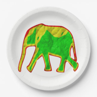 Assiettes En Papier Éléphant africain