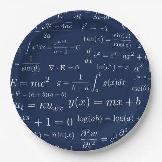 Assiettes En Papier Équations des plaques à papier de maths et de la