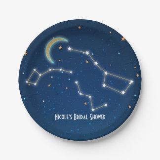 Assiettes En Papier Étoile de grand huit regardant la constellation