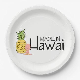Assiettes En Papier Fait dans le baby shower d'Hawaï