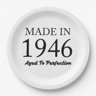 Assiettes En Papier Fait en 1946