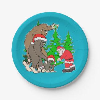 Assiettes En Papier Famille et Père Noël de Bigfoot