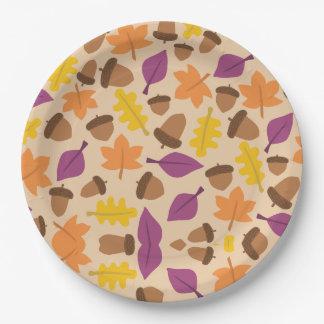 Assiettes En Papier Feuille d'automne de chute et plaques à papier