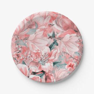Assiettes En Papier flowers2bflowers et #flowers de motif d'oiseaux