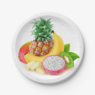 Assiettes En Papier Fruit tropical