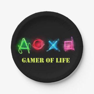 Assiettes En Papier Gamer de la vie