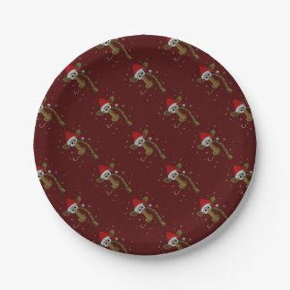 Assiettes En Papier Girafe de Noël