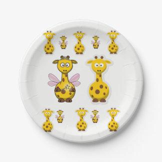 Assiettes En Papier Girafe de plaques à papier