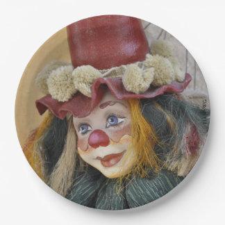 """Assiettes En Papier HAMbyWG - plaques à papier 9"""" - clown antique"""